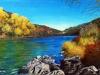 Rio Grande - Santa-Fe Gemalt von Helene Ercoli