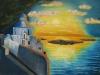 Santorin 40x60 von Angelica Ottensarent