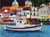 226# Samos-Ein-Schiff-im-Hafen- Ueli Herren
