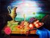 184# Stillleben-Messingkrug-mit-Fruchten-und-Rose-Ueli-Herren