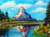 483# Riffelsee- Matterhorn Oelskizze 60x40cm