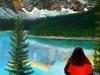 Frau in Rot 50x70 von Werner Rutz